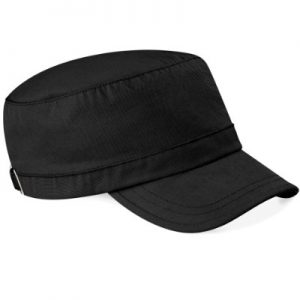 Beechfield Classic Army Cap 100% Cotton – 9 Great Colours (B34) (BLACK)